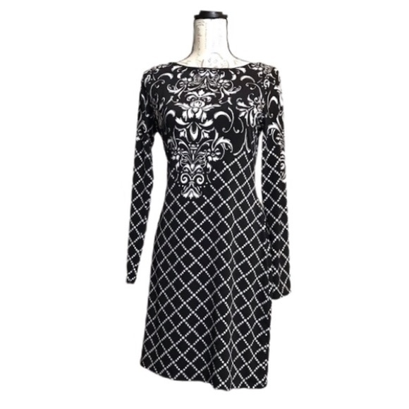 WHBM Black and White Dress